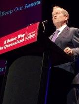 Federal Opposition Leader Bill Shorten speaks in Ipswich.