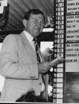 Ken Callander on his stand at Randwick in 1986.