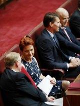 Senator Pauline Hanson still hasn't decided whether to vote for the media reform bill, but Senators Cory Bernardi and David Leyonhjelm will vote for it.