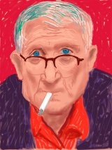 "David Hockney ""Self Portrait, 20 March 2012"" (detail) iPad Drawing."