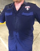 """Paramedic unions say the current NSW Ambulance shirts pose an """"unacceptable risk""""."""