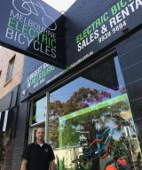 Nathan Reizer at his Melbourne Electric Bicycles store.