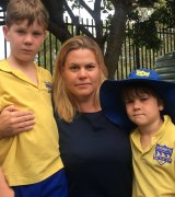 Licia Heath said she would send her sons Jude Jungwirth, 9, and Leo Jungwirth, 6, to Sydney Boys High School if a local intake was introduced.