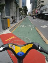 The Greens believe segregated bikeways in the Brisbane CBD would increase bike traffic while reducing injuries.