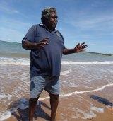 Djambawa Marawili, artist and elder, at Yilpara Homelands, Arnhemland. Photo: supplied