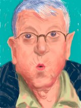 David Hockney, <i>Self Portrait, 25 March 2012, No. 2</i> iPad drawing.