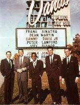 Famed rat pack members (from left) Frank Sinatra, Dean Martin, Sammy Davis Jr, Peter Lawford and Joey Bishop in the original <i>Ocean's 11</i> (1960).