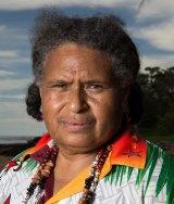 Artist Florence Gutchem on Erub Island in the Torres Strait.