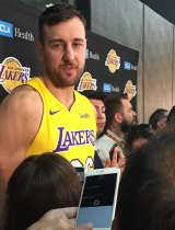 Andrew Bogut is rebuilding his NBA career at the Lakers.