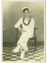 James Bradley in his naval uniform during World War II.