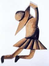 Charles Blackman, Schoolgirl maquette for Schoolgirl Ballet Project, 1955, brush and coloured inks on paper 27 x 18.5cm, Heide Museum of Modern Art, Melbourne Bequest of John and Sunday Reed 1982. Copyright: Charles Blackman