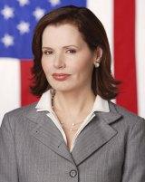 Geena Davis as US President Mackenzie Allen in 'Commander in Chief'.