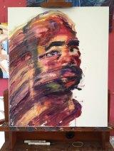 A self-portrait by Myuran Sukumaran.