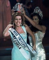Alicia Machado is crowned Miss Universe.