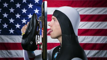 Stealth project: US Olympic speed skater Patrick Meek will be wearing one of the Mach 39 suits.