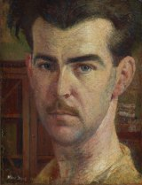Self portrait (1932), by William Dobell, oil on wood panel 35 x 27 cm. Art Gallery of New South Wales.