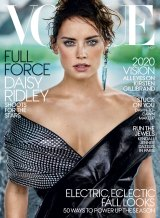 Daisy Ridley on the cover of US Vogue, photographed by Mario Testino.