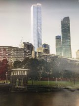 An artist's impression of the proposed tower at  555 Collins Street.