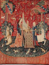 """""""Hearing"""" from the The Lady and the Unicorn series, c1500."""
