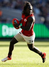 New contract: Anthony McDonald-Tipungwuti will be an Essendon player for three more years.