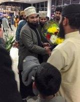 Pakistani sheikh Muhammad Raza Saqib Mustafai arriving at Sydney Airport last week.