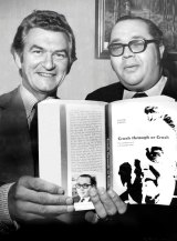 Laurie Oakes with then ACTU and ALP president Bob Hawke.