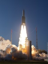 Ambitious: The satellites will be carried into orbit on an Ariane 5 rocket.