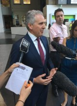 Telstra CEO Andrew Penn addresses the media after the outage.