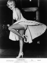 Marilyn Monroe's skirt flew up in a gust from the New York subway while filming <em>The Seven Year Itch</em> in 1955.