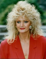 Bonnie Tyler sporting her famous 1980s look.