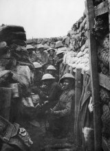 "Australians in the trenches knew that ""Parapet Joe"" could catch an unwary head above that parapet in half a second."