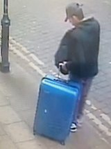 Salman Abedi in an unknown location of the city centre in Manchester, England.