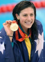 Former Olympic swimmer and author Stephanie Rice spoke at the student leadership conference in January.