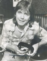 David Cassidy after arriving in Sydney for a series of Australian concerts in 1974.
