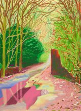 "David Hockney ""The Arrival of Spring in Woldgate, East Yorkshire in 2011 (twenty eleven) - 29 January"" iPad drawing, collection of the artist."