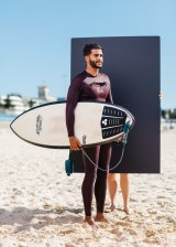 From 'Wake', a series of photographic portraits of surfers at Sydney's Bondi Beach.