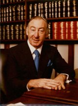 Controversial: Then High Court judge Lionel Murphy in January 1985.