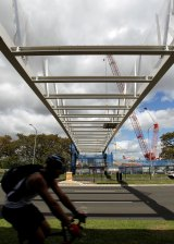 Pedestrians and cyclists will be able to use the bridge to cross the Anzac Parade.