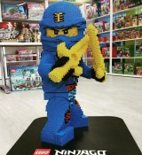 The one-metre high Lego ninja stolen from the Coburg North store.