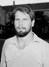 Peter FitzSimons, pictured at Sydney University in May 1984, during his rugby playing days.