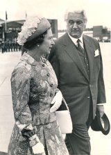 The Queen during an Australian tour with Governor-General Sir John Kerr.