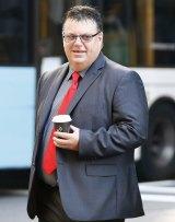 Robert Strange arrives at the Supreme Court.