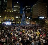 Thousands turned out for the celebration on Friday night.