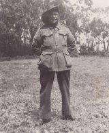 Herbert Lovett, one of the five Lovett brothers from the Aborginal Mission station, Lake Condah, who served in World War I.