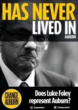 Under pressure: posters are targeting Labor leader Luke Foley.