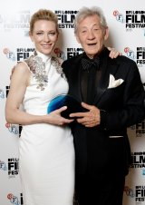 Sir Ian McKellen presented the award to Cate Blanchett.