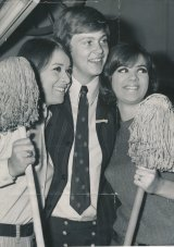 The man who made the mop fashionable - pop singer Johnny Farnham - arrived at a city store to compere a lunchtime fashion parade in 1968