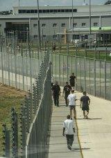 People inside the maximum security Melbourne's Metropolitan Remand Centre.