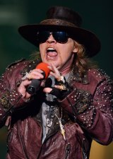 Tragic selection ... Axl Rose is the new AC/DC lead singer.