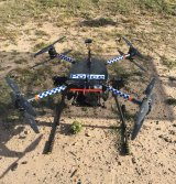 The two carbon fibre drones cost approximately $23,000.